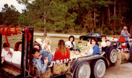Getting together for a hayride was always a fantastic way to get into the holiday mood. We held these rides during the holidays for years in our Wesley Chapel neighborhood.