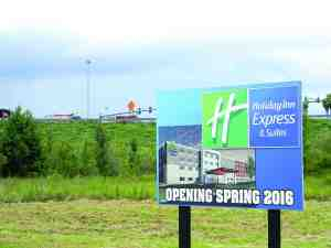 Holiday Inn Express is one hotel ready for construction with an opening in 2016. The hotel is next to Florida Hospital Center Ice, an ice rink and sports complex that is under construction, off State Road 56. Both will be job producers. (Kathy Steele/Staff Photo)