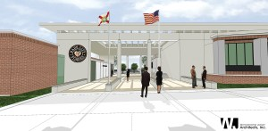 Rendering of new Dade City government complex.