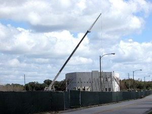 The walls have gone up at Elementary School W, a new school being built off Mansfield in the Wiregrass area of Wesley Chapel.