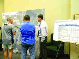 Residents studied maps, and asked questions of state highway representatives, at a public hearing on ways to ease traffic congestion at State Road 54 and U.S. 41. (Kathy Steele/Staff Photos)