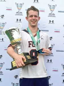 Jimmy Watson of @FCALacrosse wins the @UnderArmour Rising Stars Championship Game MVP. (Photos courtesy of NDP Lacrosse)