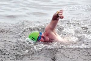 Despite being stricken with Stage IV cancer, Casey swims three to four days per week. He helps raise money for cancer victims by swimming in the annual SWIM Across the Sound, a 15.5-mile swim marathon that stretches from Port Jefferson, New York to Bridgeport, Connecticut.