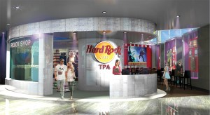 Tampa International Airport is the first airport in the country that will have a Hard Rock Café on-site.