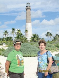 Visiting Loggerhead Key Lighthouse has long been on Betty Lowe Phelps' bucket list. She finally visited the lighthouse last fall. She was accompanied on the trip by her sister, Toni Lowe Clinger, left and by Clinger's husband, Bryon. (Photos courtesy of Betty Lowe Phelps)