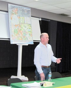 J.D. Porter, whose family owns thousands of acres in Wiregrass Ranch, talks about future plans for the area near The Shops at Wiregrass and Pasco-Hernando State College's Porter Campus at Wiregrass Ranch. (B.C. Manion/Staff Photo)