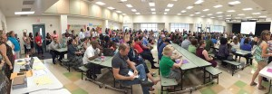 Hundreds of parents turned out to learn more about Wiregrass Elementary, a new school set to open in August. (Photos courtesy of Wiregrass Elementary School)