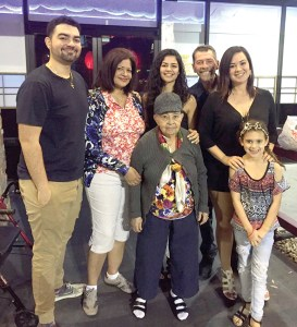 The DeRolf family has lived in Lutz for over 30 years. Front row: Margarita Ruiz and Michelle DeRolf. Other members of the DeRolf family, in the back row, from left, are son Jeff Jr., mother Carmen, daughter Mariah, father Jeff and daughter Maria.