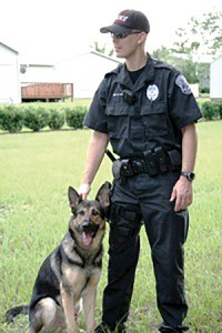 Chris Stone, a 14-year law enforcement officer, and his K-9 partner, Ryko, worked together for eight years before retiring as a team about three months ago. (Courtesy of Dade City Police Department)