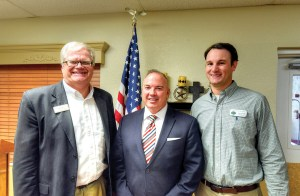 From left, John Moors, executive director of The Greater Dade City Chamber of Commerce; Bill Cronin, president and CEO of the Pasco Economic Development Council; and, Jake Mitchell, administrator of Royal Oak Nursing Center in Dade City. (Richard K. Riley/Photo)