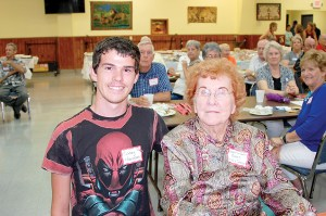 Casey Harrison, left, a member of the Class of 2016, was the youngest member of the Zephyrhills Alumni at the gathering, and Bernice (Curtis) Rooks, a member of the Class of 1940, was the oldest. Rooks is also a retired Zephyrhills teacher. (Photos courtesy of Clereen (Morrill) Brunty)