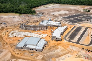 Construction activity is well under way on a new high school on Old Pasco Road, which will open initially as a high school and a middle school. (Images courtesy of Pasco County Schools)