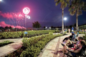 Colorful bursts of fireworks across the night sky at Connerton drew an appreciative response from a crowd estimated at 5,000 for the Nation Celebration Independence Day Party at Connerton in Land O' Lakes. (Courtesy of Connerton)