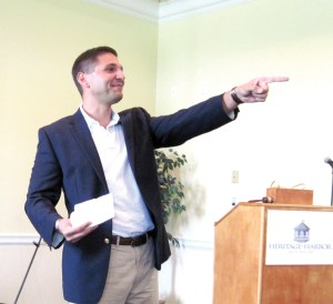 A lot of people know Danny Burgess as a representative of the Florida Legislature and the former mayor of the City of Zephyrhills. But, he's also a lawyer and offered some practical pointers to business owners at the Central Pasco Chamber of Commerce meeting. (B.C. Manion/Staff Photo)