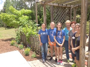 Girl Scout Troop No. 360 planted a pollinator demonstration garden.