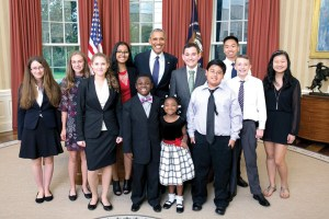 Eleven students nationwide were chosen to participate in the Kid Science Advisor program, held on Oct. 21. (Official White House Photo)