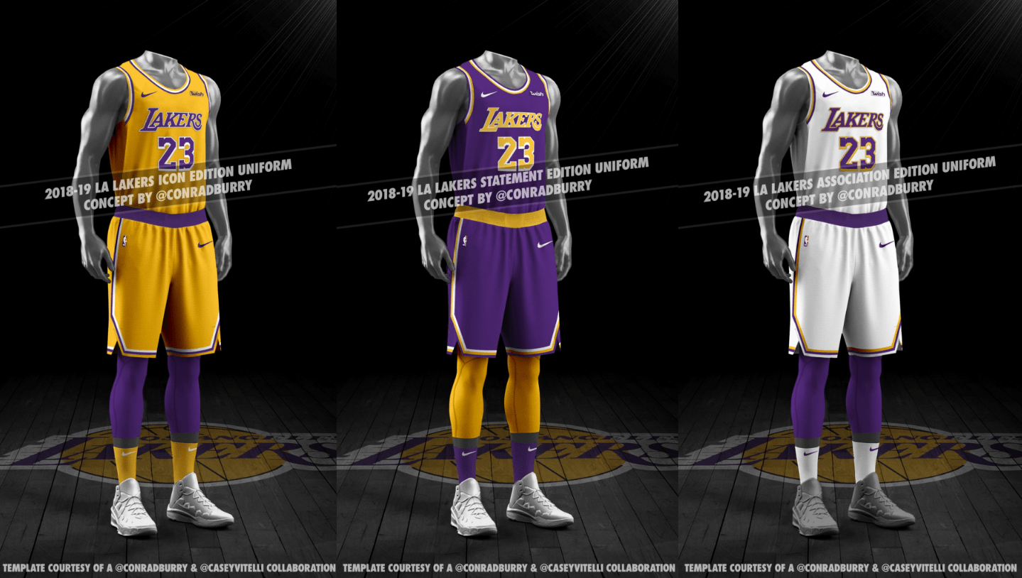 designer fashion f74dc a9040 Rumor: New 2018-19 Los Angeles Lakers jersey leaks - Lakers ...