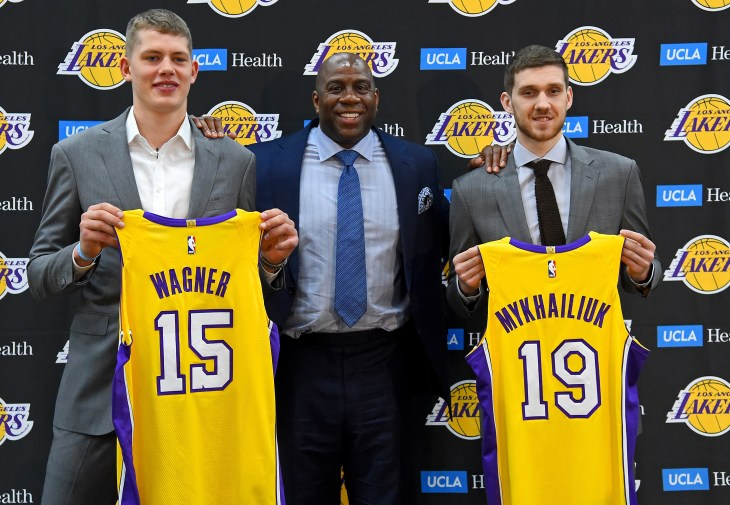 Los Angeles Lakers Introduce 2018 Draft Picks