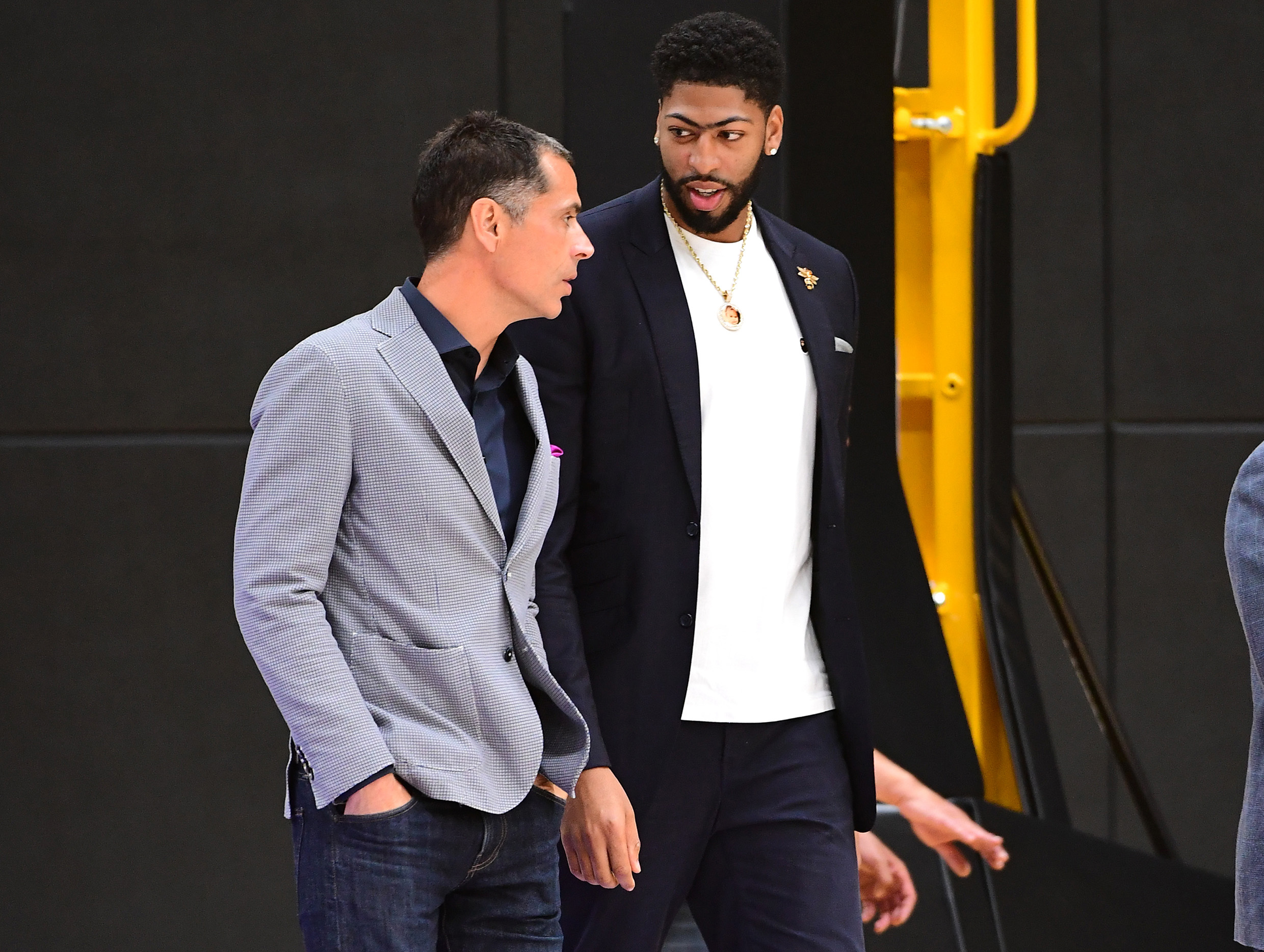 Rob Pelinka says Lakers can pair Anthony Davis with a ...