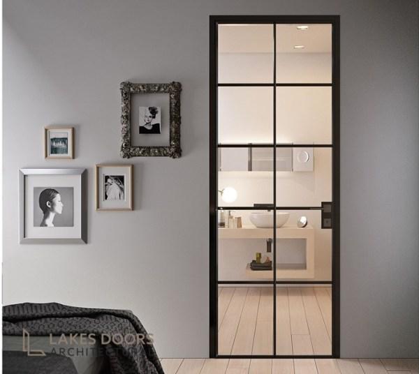 Crittall style aluminium doors