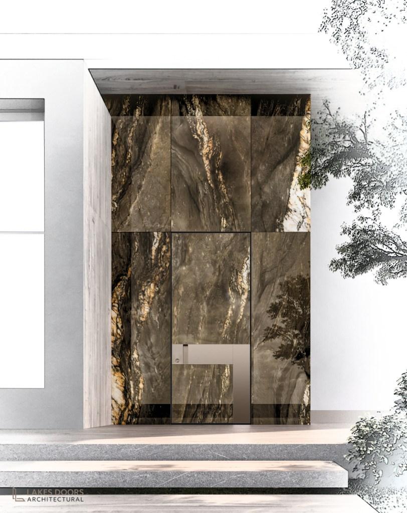 Marble Front Door