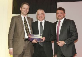 Mark and Roger receive Lakes Freee Range Egg Award