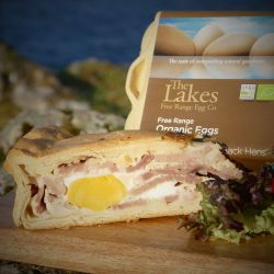 Organic Lakes egg and pie