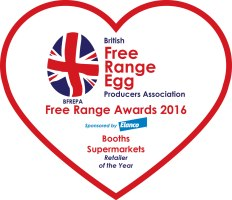 Booths free range egg award