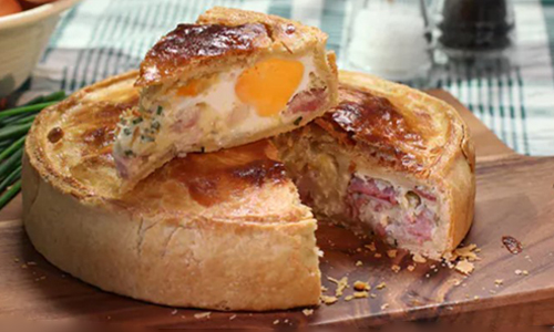 Bacon & Egg Pie by Paul Hollywood