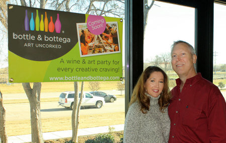 Glenn and Samantha Olson inside their Building 1 space that fronts on FM 2499.
