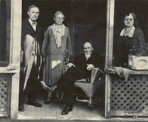 Art Foster, Mrs. Foster, Joe Foster, and Lulu Foster at the Lakeside School c.1906