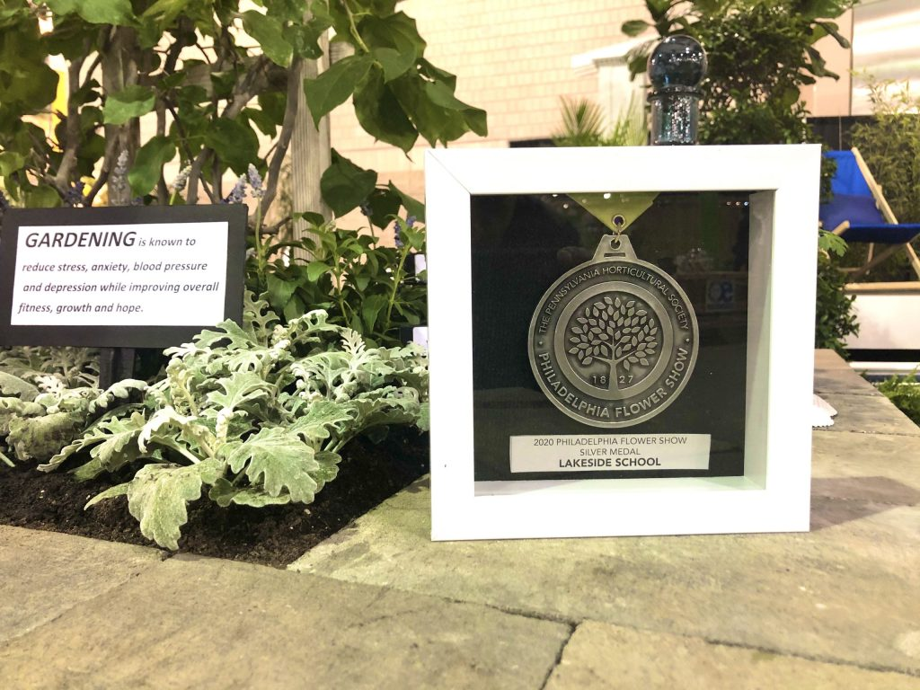 Lakeside exhibit at Philly Flower Show, with Gold Medal award.