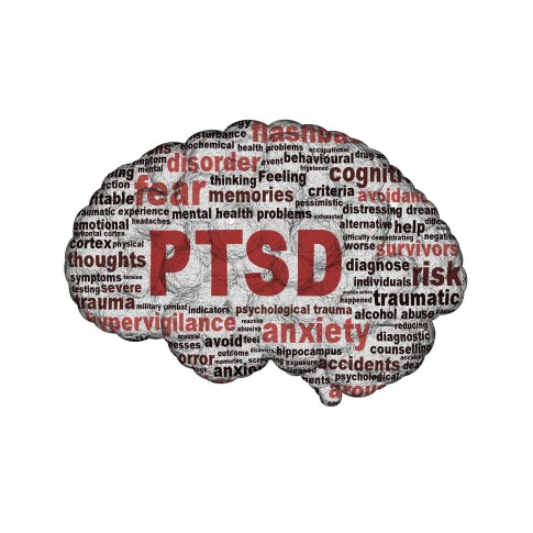 PTSD symbol design isolated on white background. Anxiety disorder symbol conceptual design