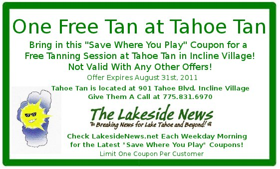"""""""Save Where You Play"""" With a Free Tanning Session"""