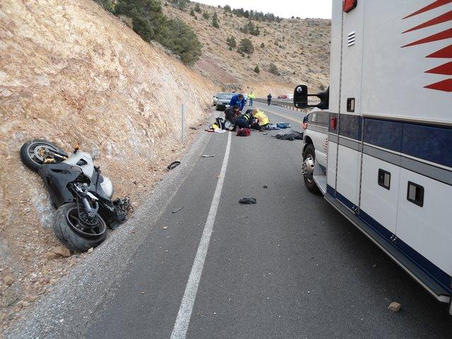 Fatal motorcycle accident on SR341 (Geiger Grade Highway)