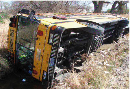 Churchill County School Bus Overturns…Only Minor Injuries