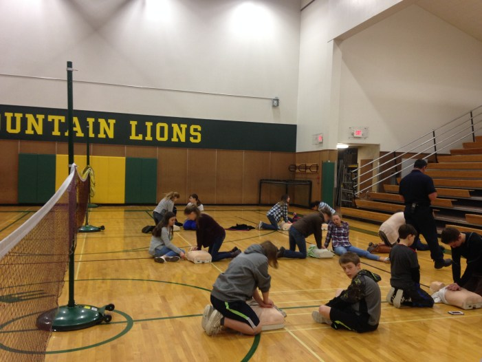 CPR Training In Progress At Incline Middle School