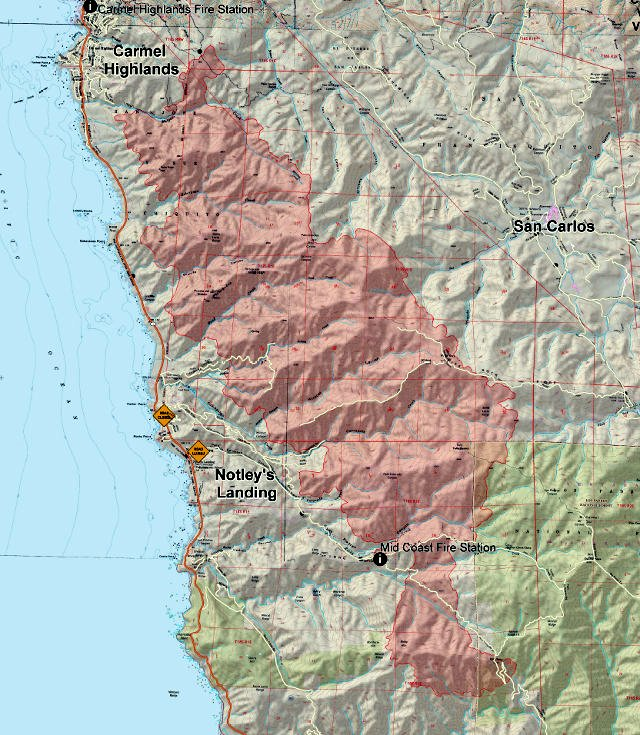Soberanes Fire Update, 40,618 Acres, 18% Contained, 57 Homes Destroyed & 1 Fatality