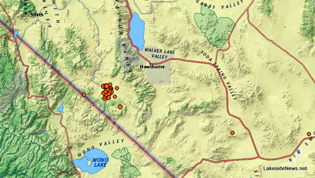 Three Quakes of 5.5 or Over & Over 30 Aftershocks Rattle Northern Nevada & California