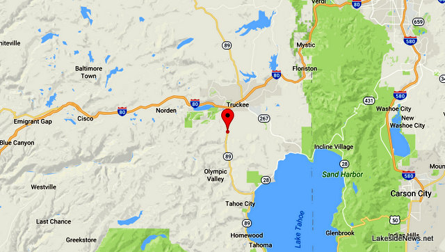 Traffic Update….Vehicle Into Truckee River Off Of Hwy 89