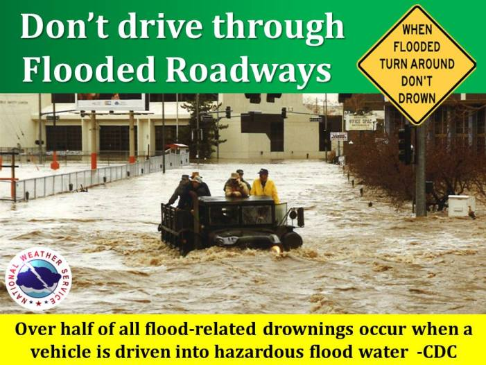 Over Half of All Flood-Related Drownings When a Vehicle is Driven Into Flood Water!