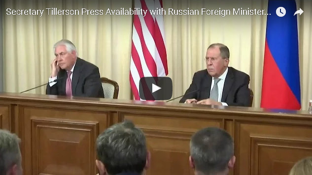 Remarks With Rex W. Tillerson & Russian Foreign Minister Sergey Lavrov at a Press Availability