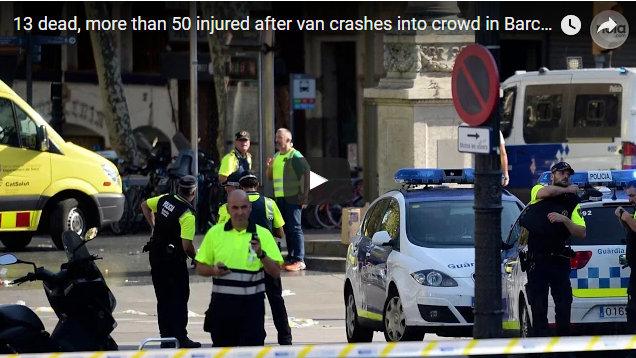 Terrorist Attack in Barcelona, 13 Killed & 80 Injured