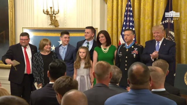 President Trump at Presentation of the Congressional Medal of Honor to Staff Sergeant David Bellavia, U.S. Army