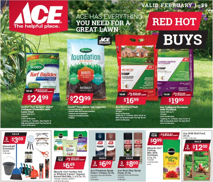 Ace Home Center February Red Hot Buys