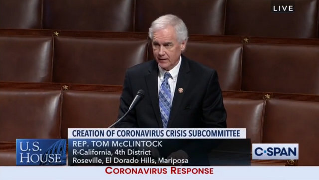 Congressman McClintock's Speaks in Support of Paycheck Protection Program Replenishment