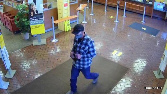 Bicycling Bandit in his 40s Sought in Truckee Wells Fargo Heist Today