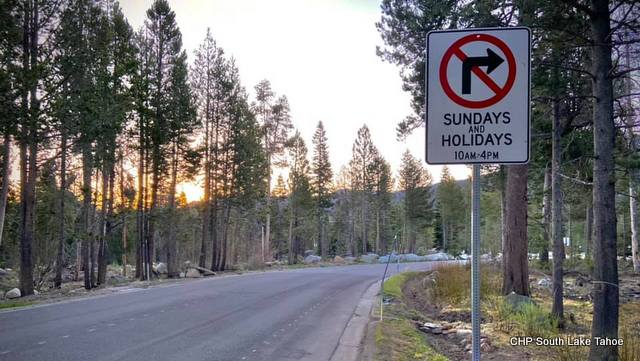 Turn Restrictions for Sawmill Road and North Upper Truckee Road