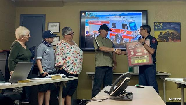 North Lake Tahoe Fire Protection District Honors Engineer Ron Johnson on His Retirement!