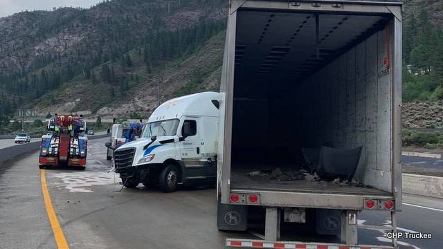 Interstate 80 Has Reopened in Floriston Area after Big Rig Crash Cleared